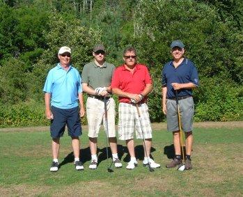 The Boys at Voyageur Days Golf Tournament
