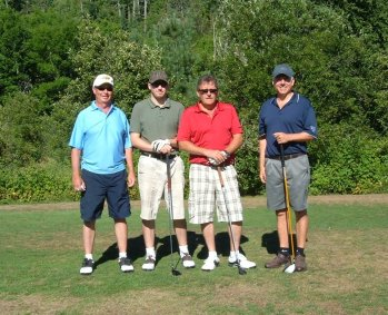 The Boys at Voyageur Days Golf Tournament
