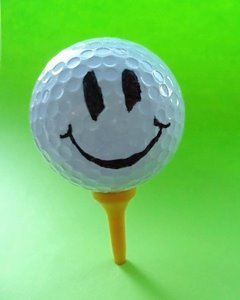 Smiling golf Ball