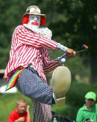 Image from:  http://tankedpodcast.com/tanked-home/2011/9/2/tanked-169-clown-golfing.html