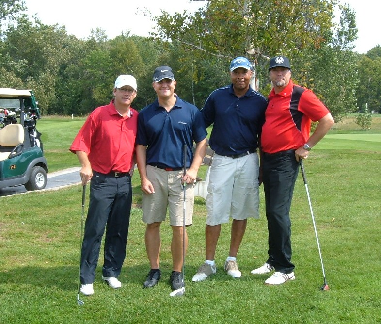 Local Pro, 2 USAF Members, Local Businessman supporting the launch of the True Patriot Love Foundation Charity!