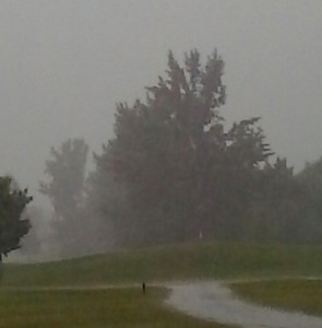 Storming at Garrison Golf Course