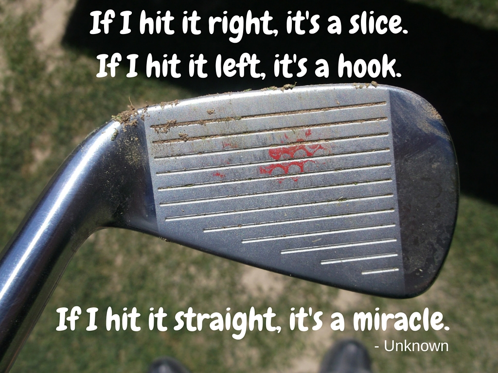 Image result for golfer hitting a slice