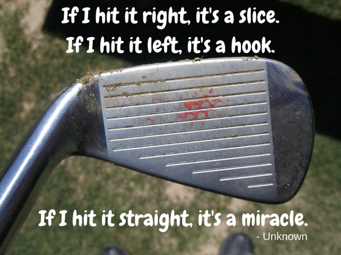 Hitting Straight is a miracle.